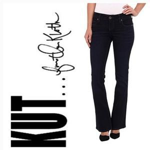 KUT from the Kloth Black Karen Baby Bootcut Jeans